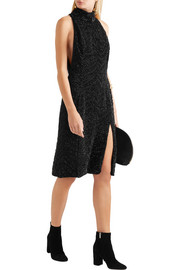 Lorne crystal-embellished silk-georgette midi dress