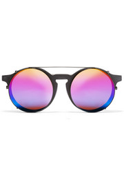 Matahari convertible round-frame matte-acetate mirrored sunglasses
