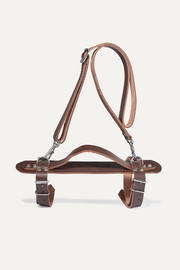 Harness leather towel carrier