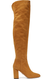 London suede over-the-knee boots