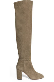 Aquazzura London suede over-the-knee boots
