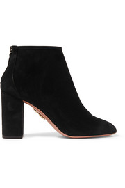 Aquazzura Downtown suede ankle boots