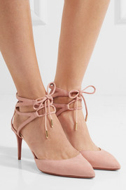Aquazzura Uma lace-up suede pumps