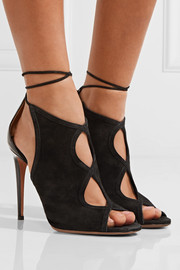 Nomad cutout suede and leather sandals