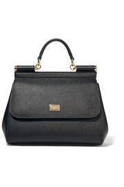 Dolce & Gabbana Sicily medium textured-leather tote