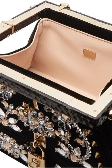 Dolce   Gabbana. Snake-trimmed embellished velvet tote. €2 1e30cec45a2d7