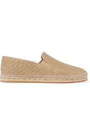 Bottega Veneta Metallic intrecciato canvas espadrilles