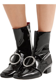 Biturbo embellished patent-leather ankle boots