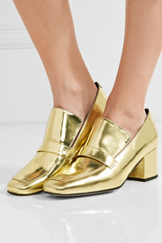 Turbojet mirrored-leather pumps