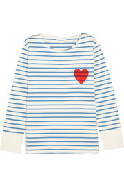 Chinti and Parker Printed striped cotton-jersey top