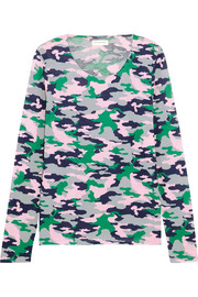 Chinti and Parker Camouflage-print cotton-jersey top