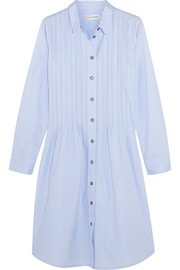 Chinti and Parker Pleated cotton-poplin dress