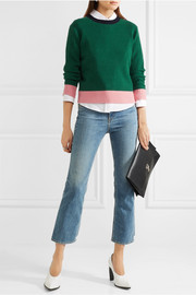 Chinti and Parker Color-block ribbed wool and cashmere-blend sweater