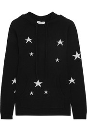 Chinti and Parker Hooded star-intarsia cashmere sweater