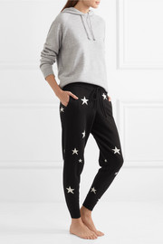 Chinti and Parker Star-intarsia cashmere track pants