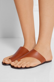 Rosa cutout leather slides