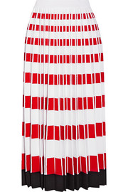 Fendi Pleated stretch-knit midi skirt