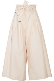 Fendi Pleated cotton-poplin culottes