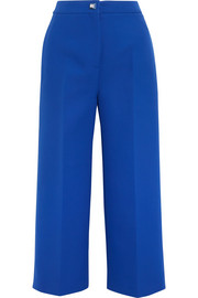 Cotton-crepe culottes