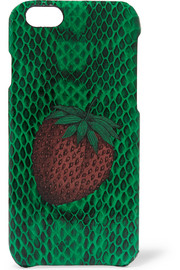 The Case Factory Strawberry-print elaphe iPhone 6 case