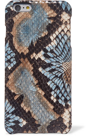 Snake-effect leather iPhone 6 Plus case