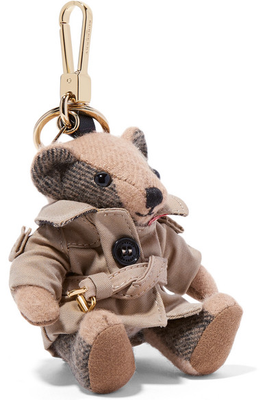 Burberry - Checked Cashmere Keychain - Brown