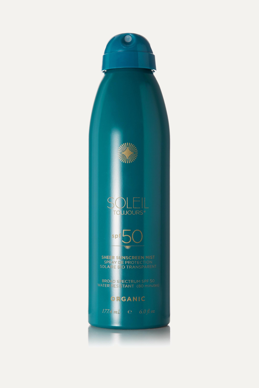 Soleil Toujours + NET SUSTAIN SPF50 Organic Sheer Sunscreen Mist, 177.4ml