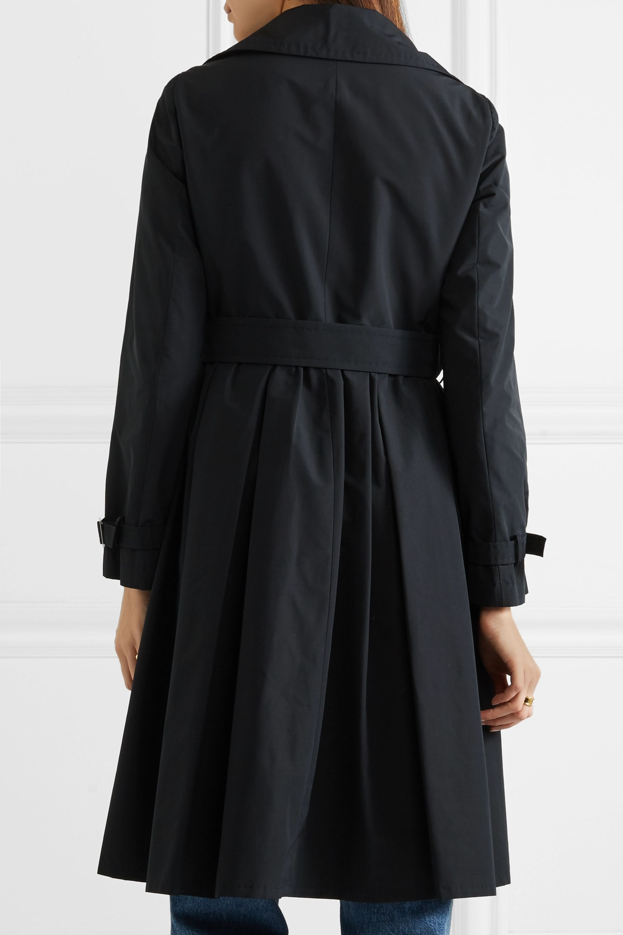 Max Mara Pleated shell trench coat