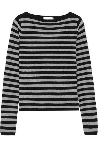 Max Mara - Striped Cashmere Sweater - Black