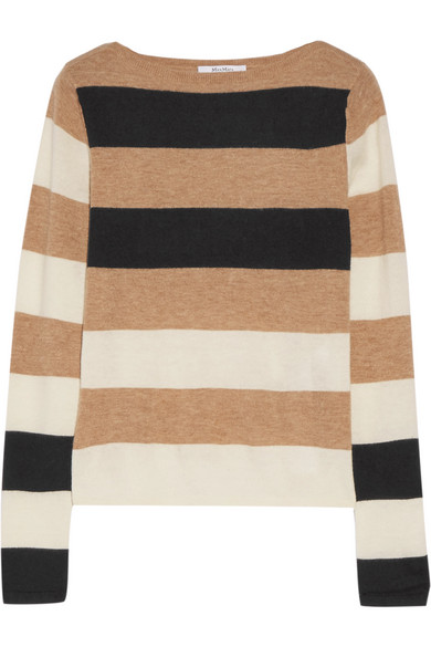 Max Mara - Striped Cashmere Sweater - Beige