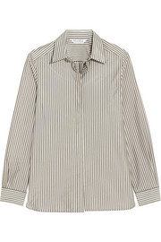 Striped crepe de chine shirt