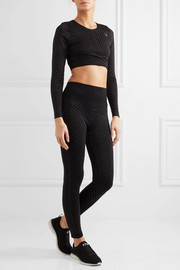 Stardust metallic stretch-jersey leggings