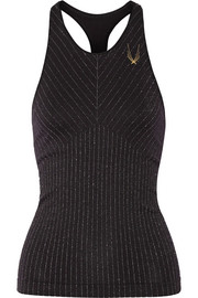 Technical Knit Stardust metallic striped stretch tank