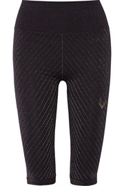 Technical Knit Stardust metallic stretch leggings