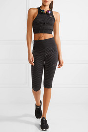 Lucas Hugh Technical Knit Stardust metallic stretch sports bra