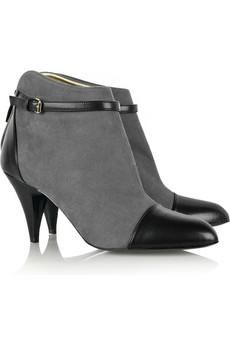 Stella McCartney Faux-suede ankle boots