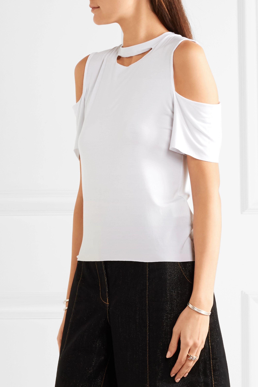 Maggie Marilyn Marilyn cutout stretch-jersey top