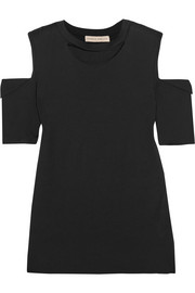 Maggie Marilyn Marilyn cutout stretch-cotton jersey top
