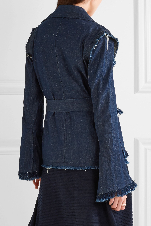 Maggie Marilyn George frayed denim jacket