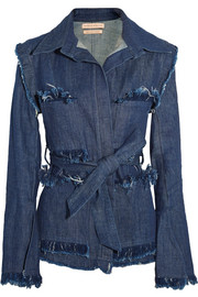 George frayed denim jacket