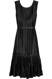 Wear It Your Way ruffled silk-satin dress