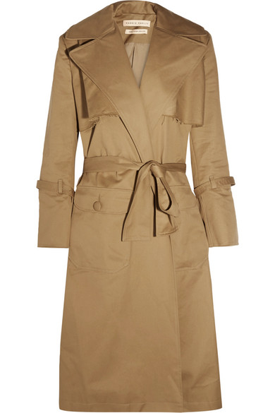 Maggie Marilyn - Be Mine Oversized Cotton-twill Trench Coat - Camel