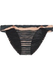 Lanai Bia striped bikini briefs