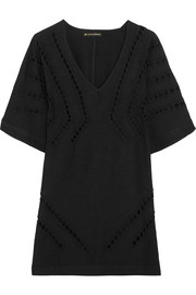 Luma embroidered cutout voile kaftan