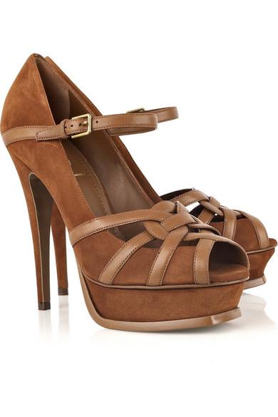 ce4ec06362 Yves Saint Laurent   Tribute suede sandals   NET-A-PORTER.COM