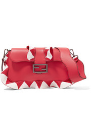 Fendi Baguette bead-embellished ruffled leather shoulder bag