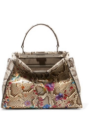 Fendi Peekaboo medium painted python tote