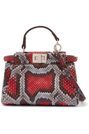 Peekaboo micro python shoulder bag