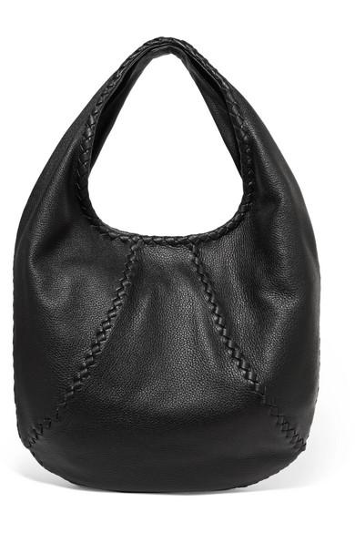 bottega veneta female bottega veneta hobo large texturedleather shoulder bag black