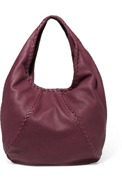 Bottega Veneta - Hobo Large Textured-leather Shoulder Bag - Burgundy